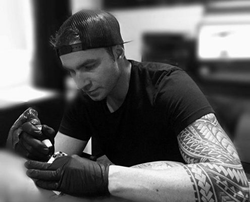Louis-Philippe Lauzon membre Team Pro SB Distribution tatouage à Blainville